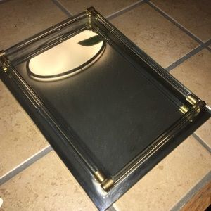 Mirrored perfume or jewelry tray